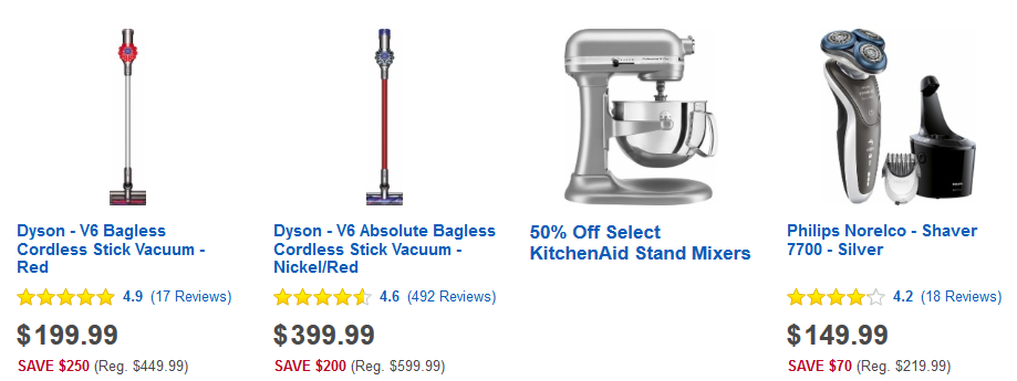 head on over to best buy and check out the best buy flash sale items like these - Dyson Vacuum Sale