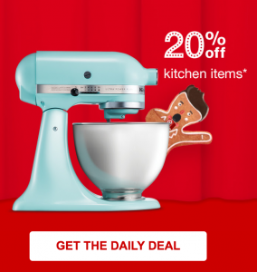 Target 10 Days Of Deals! Take 20% Off Kitchen Items Today Only! Kitchen Aid  Mixer Just $159.99!