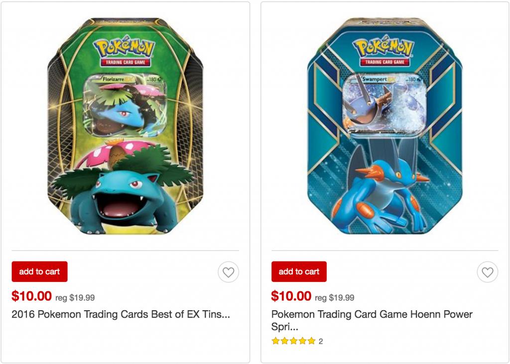 Pokemon Trading Card Tins 10 00 Black Friday Price At Target Common Sense With Money