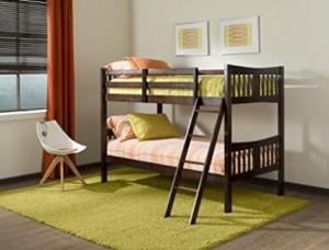 Amazon storkcraft caribou solid hardwood twin bunk bed for Stork craft caribou bunk bed