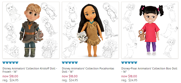 Disney store animators dolls only 18 each reg 2495 coupon code parkfree at checkout dollss fandeluxe Choice Image