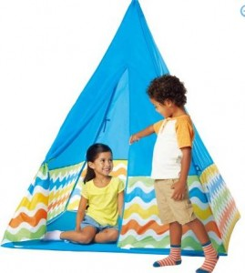 Another fun play tent for kids! Walmart has this Fabric Teepee in Blue for only $17.45! Itu0027s 5-feet tall when set up and comes with a storage bag too!  sc 1 st  Freebies2Deals & Walmart: Fabric Teepee Blue Only $17.45! - Freebies2Deals