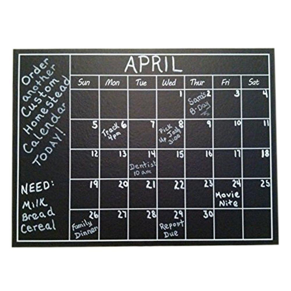Chalkboard Calendar Walmart : Chalkboard calendar wall sticker just on amazon