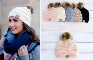 Perfect for the colder fall and winter months! GroopDealz has these  Trending CC Pom Pom Beanies for only  8.99! You can choose from black b39cb032909