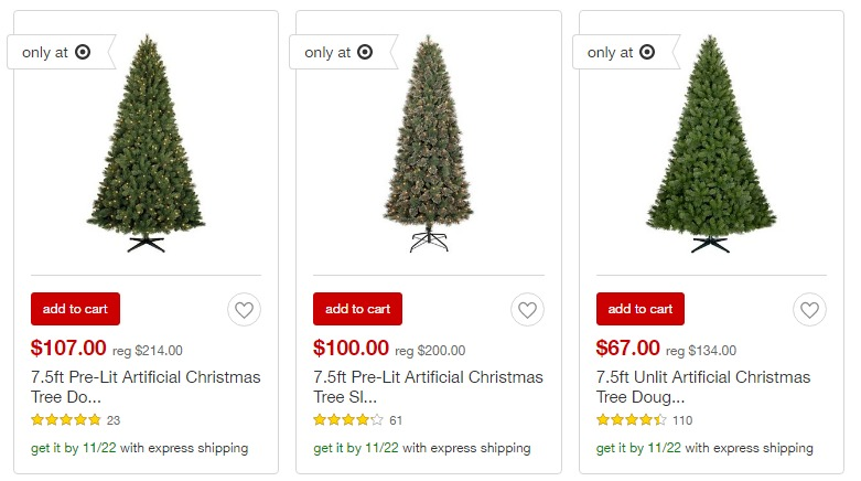 HOT!! 50% OFF Christmas Tree Sale at Target!! - Freebies2Deals