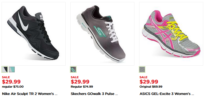 The Kohl S Black Friday Athletic Shoes For Men And Women Just 25 49 Two Pair 50 98 W 15 Kohls Cash