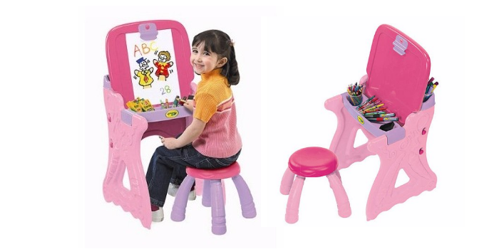 Pink Crayola Play N Fold 2 In 1 Art Studio Only 23 96