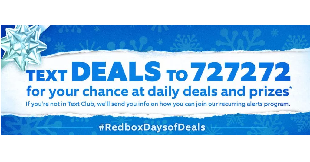 Redbox 12 days of deals text