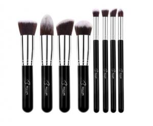 8 pc makeup brush set