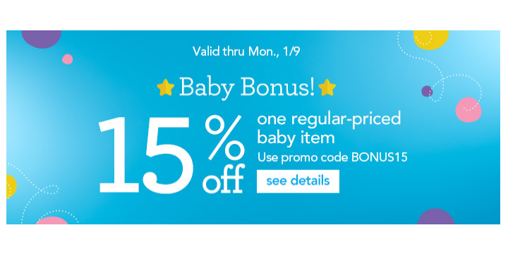 HOT! Babies R Us: Take 15% off 1 Baby Item! (Today, Jan. 9th Only) - Deals & Coupons