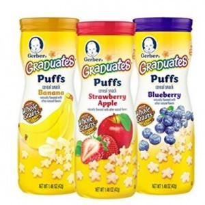 Gerber graduates puffs cereal snack variety pack 1 48 ounce pack of