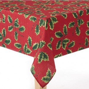 Kohl S Cardholders The Big One Red Holly Tablecloth