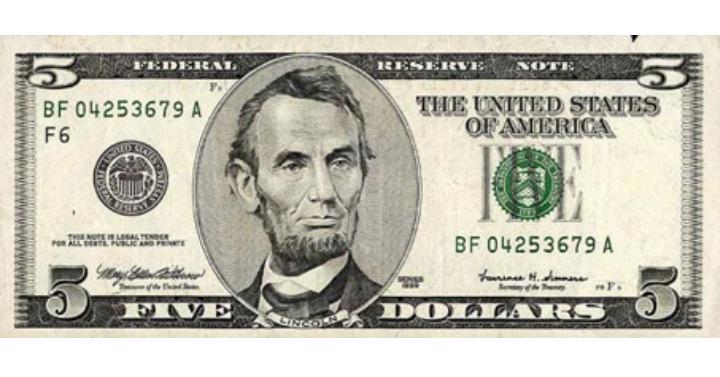 5 paypal 5 dollars cash money