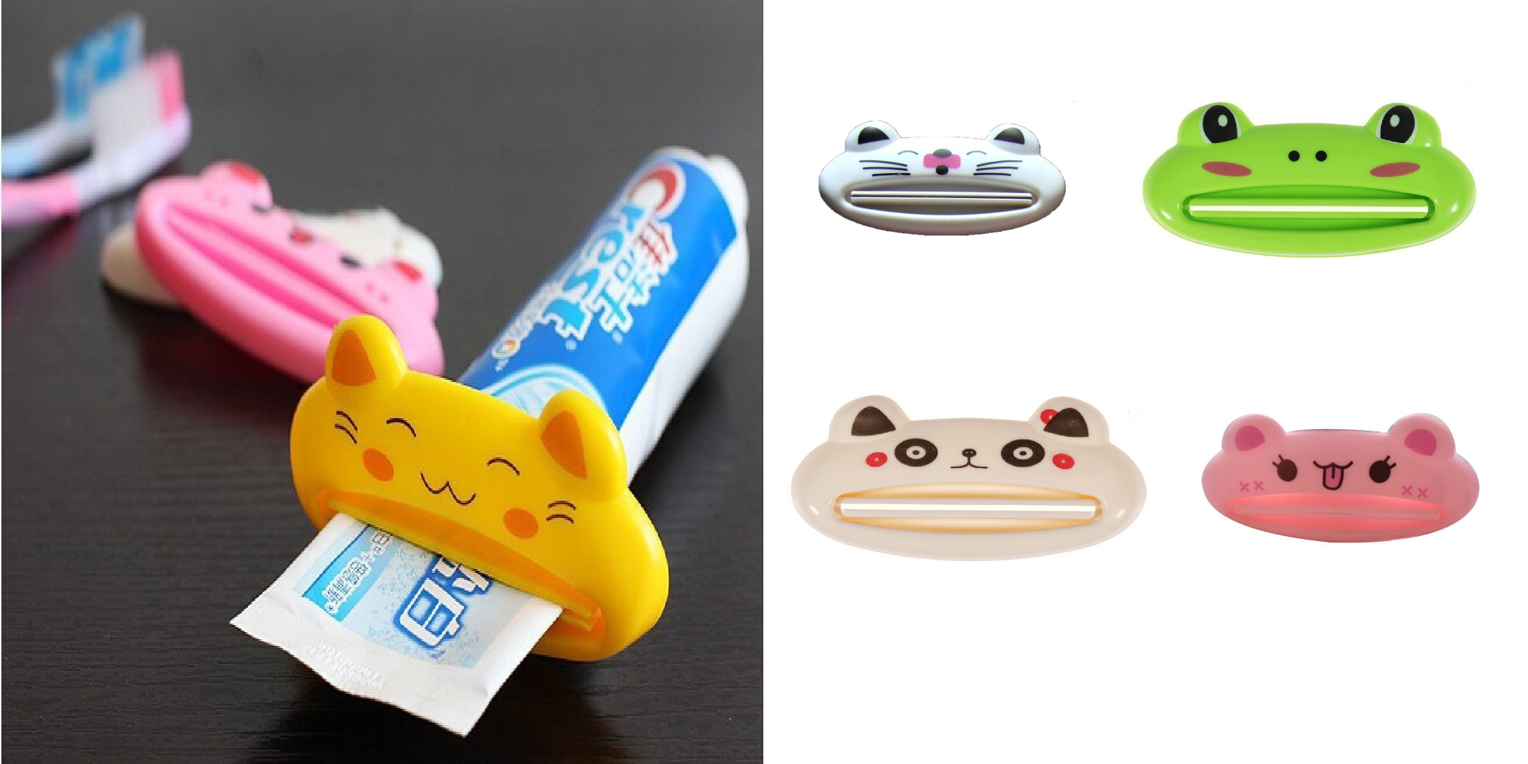 animal toothpaste squeezers