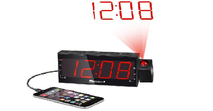 1 best seller mesqool am fm digital projection alarm. Black Bedroom Furniture Sets. Home Design Ideas