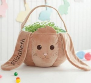 Personalized Brown Bunny Easter Basket  Only $20.30! - Deals & Coupons