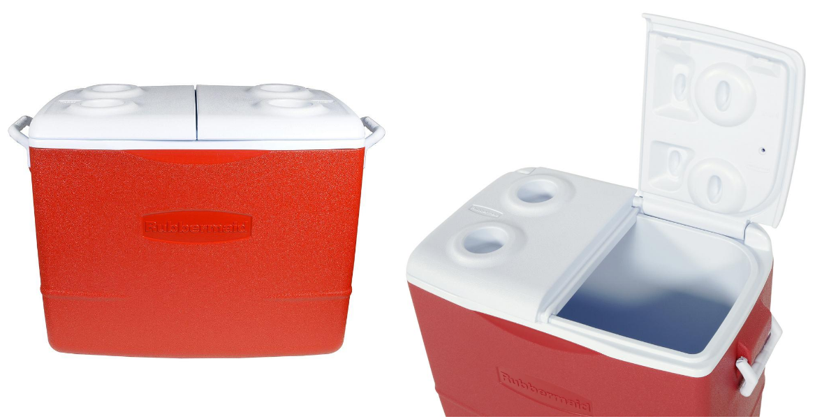 rubbermaid split lid cooler
