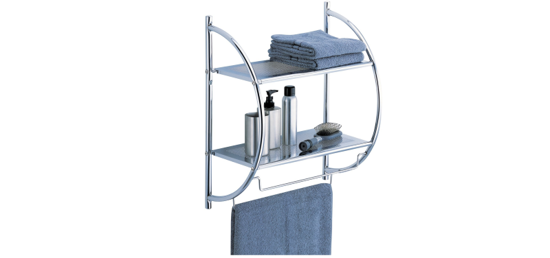 towel bar shelves