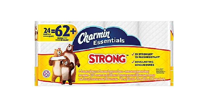 Charmin Essentials Strong Toilet Paper 24 Giant Rolls Only $9.99! Thats Only $0.16 per Single Roll = Stock Up Price! - Deals & Coupons