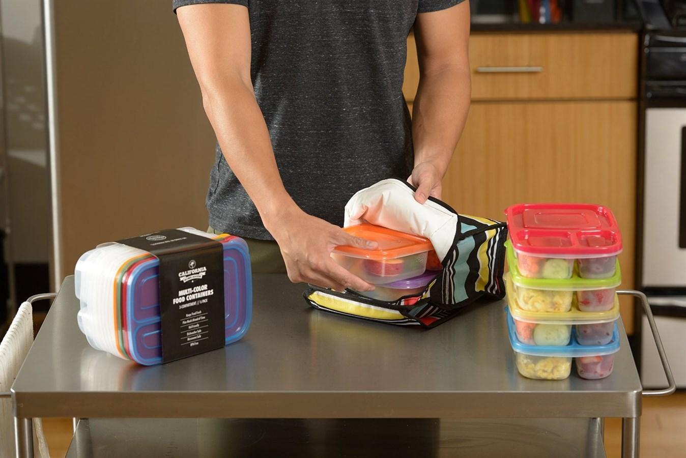 set of 6 bento lunch boxes just freebies2deals. Black Bedroom Furniture Sets. Home Design Ideas