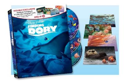 Finding Dory Steelbook with Lithograph Cards (Blu-ray + DVD + Digital)  Only $15! - Deals & Coupons