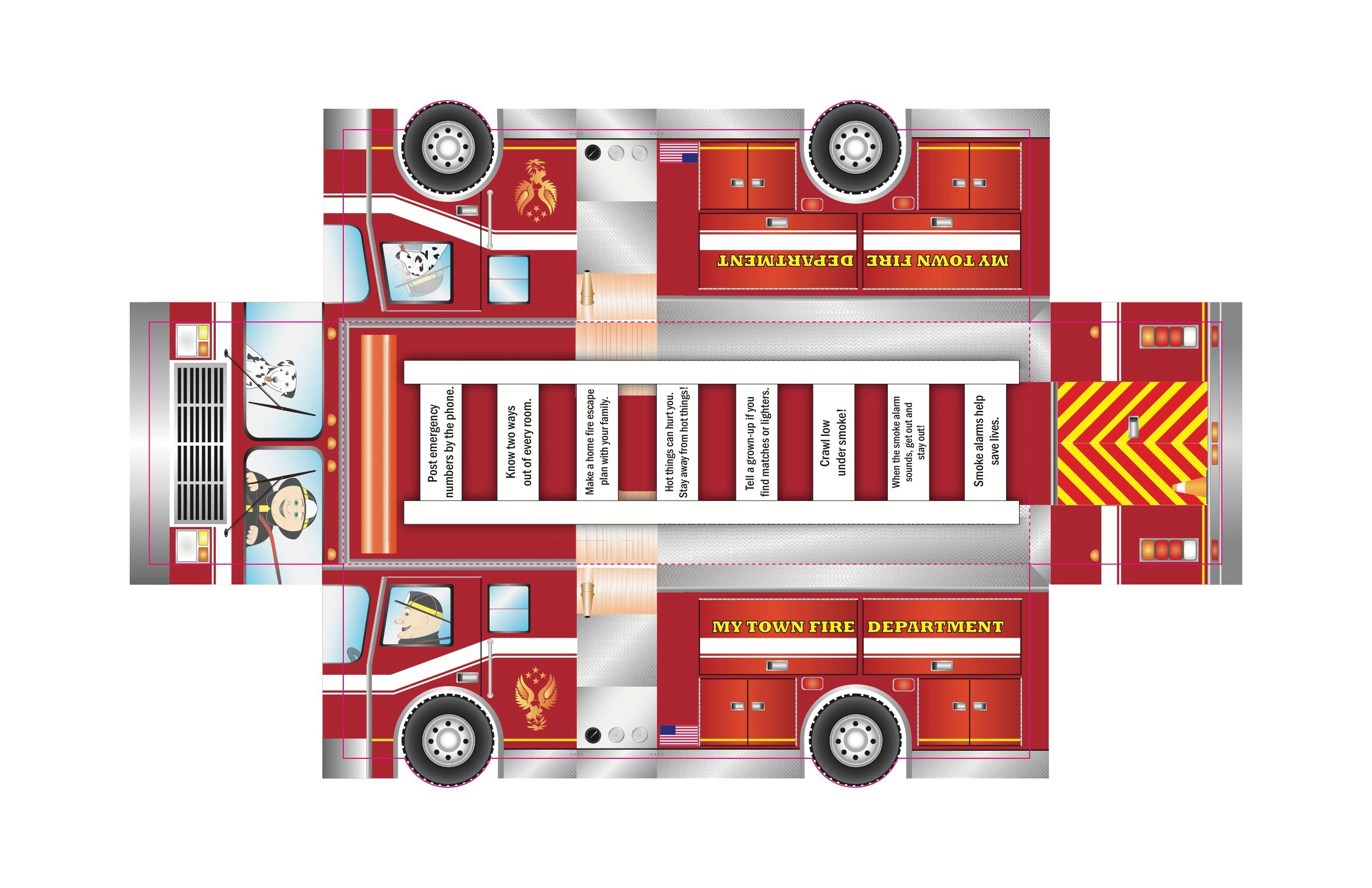fold up fire truck
