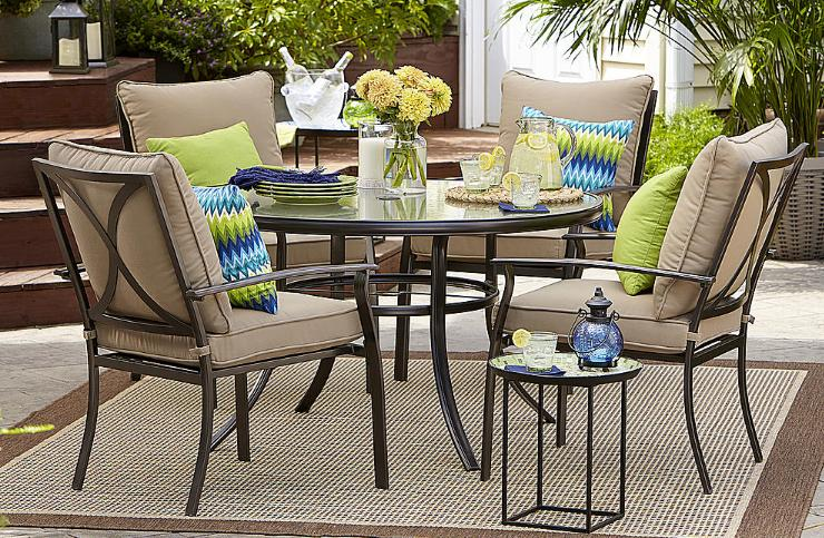 Looking For A Nice Patio Set For The Back Porch? Right Now, Sears Has This  Garden Oasis Harrison 5 Piece Cushion Dining Set For Only $269.99!