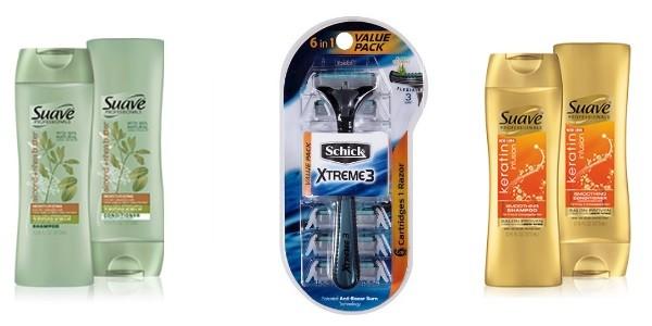 razors and shampoo