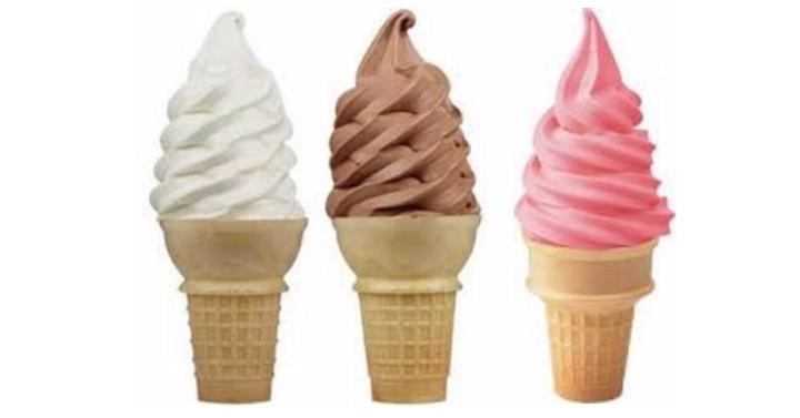 soft serve ice cream cone
