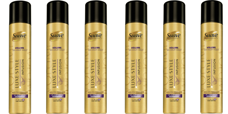 suave gold hairspray