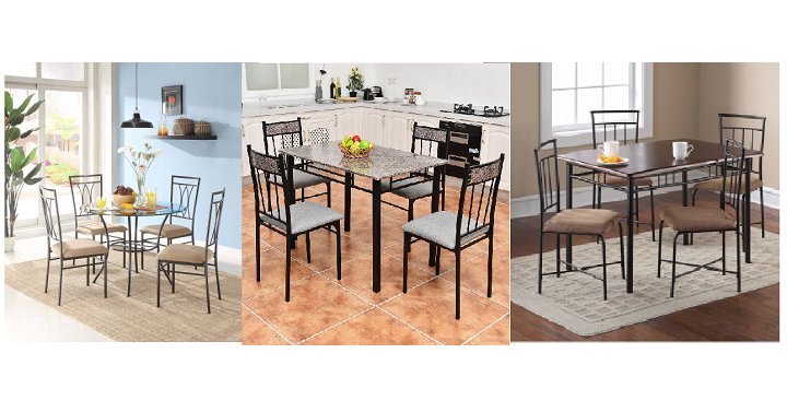 Walmart Dining Sets Under 200 Costway 5 Peice Faux Marble Dining Set Only