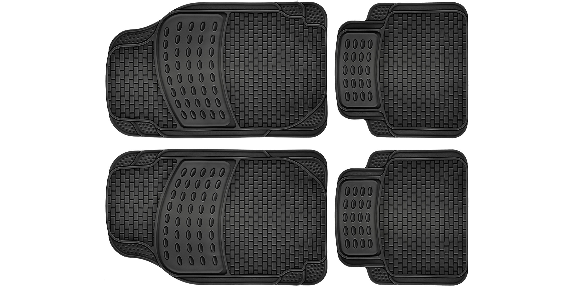 Rubber floor mats sears - Keeping A Vehicle Clean When You Have Kids Can Be A Tough Task A Good Set Of Floor Mats Though Can Protect Your Carpeting This All Weather Rubber 4 Pc