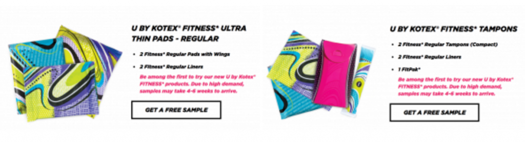 FREE Sample of U By Kotex Fitness Pads Or Tampons! - Freebies2Deals
