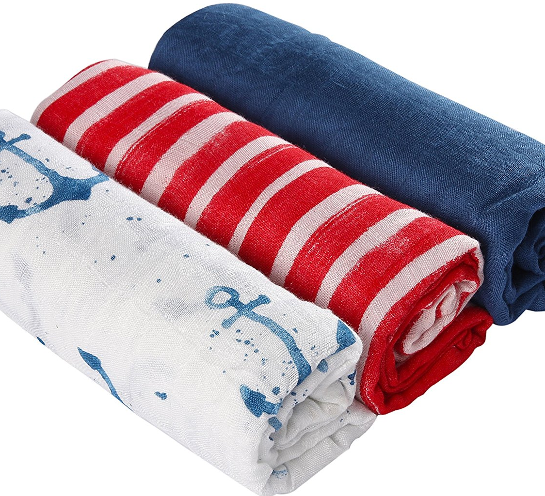 Designer deals club for hancock - How Cute Are These It Makes Me Wish I Had A Baby To Buy For Amazon Has The Muslin Baby Swaddle Blankets Nautical Prints 3 Pack For Just 19 99