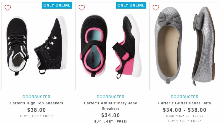 76c0e1e139 Carter's BOGO FREE Shoes, Underwear, Socks, Leggings, and MORE + ...