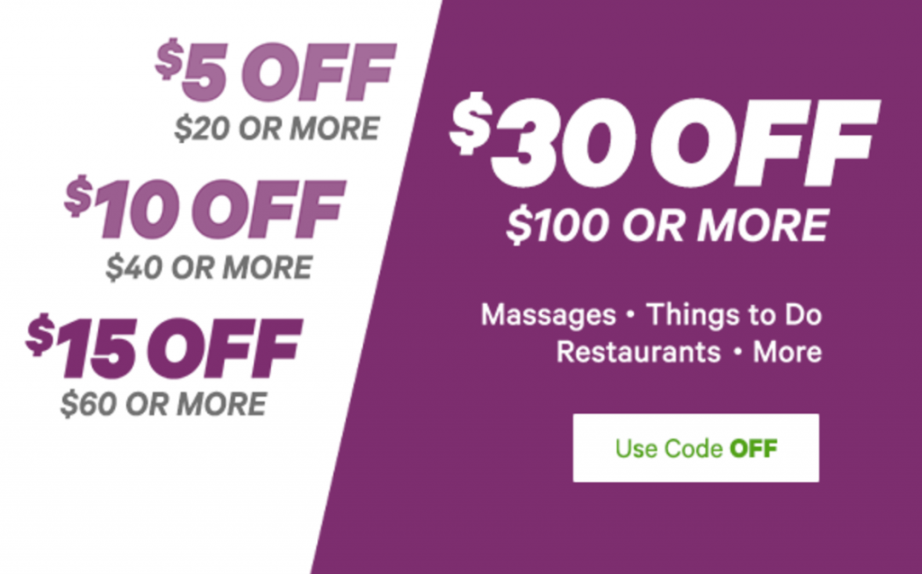 groupon save 5 off orders of 20 or more 10 off 40 15 off 60