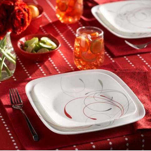Target has this Corelle Square 16-Piece Dinnerware Set (Splendor Red) for only $37.39! (Reg. $74.99) This set comes with 4 Salad Plates 4 Mugs ... & Corelle Square 16-Piece Dinnerware Set (Splendor Red) - Only $37.39 ...