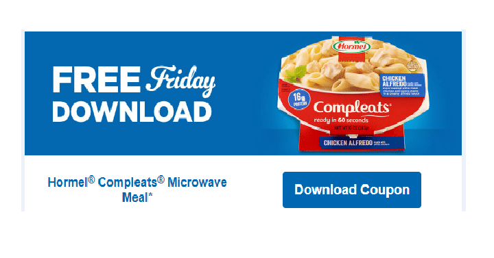 Today Only September 15th Kroger And Affiliates Can An Ecoupon For Free Hormel Compleats Microwave Meal