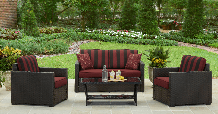 Better Homes and Gardens Rush Valley 4-Piece Outdoor Conversation ...