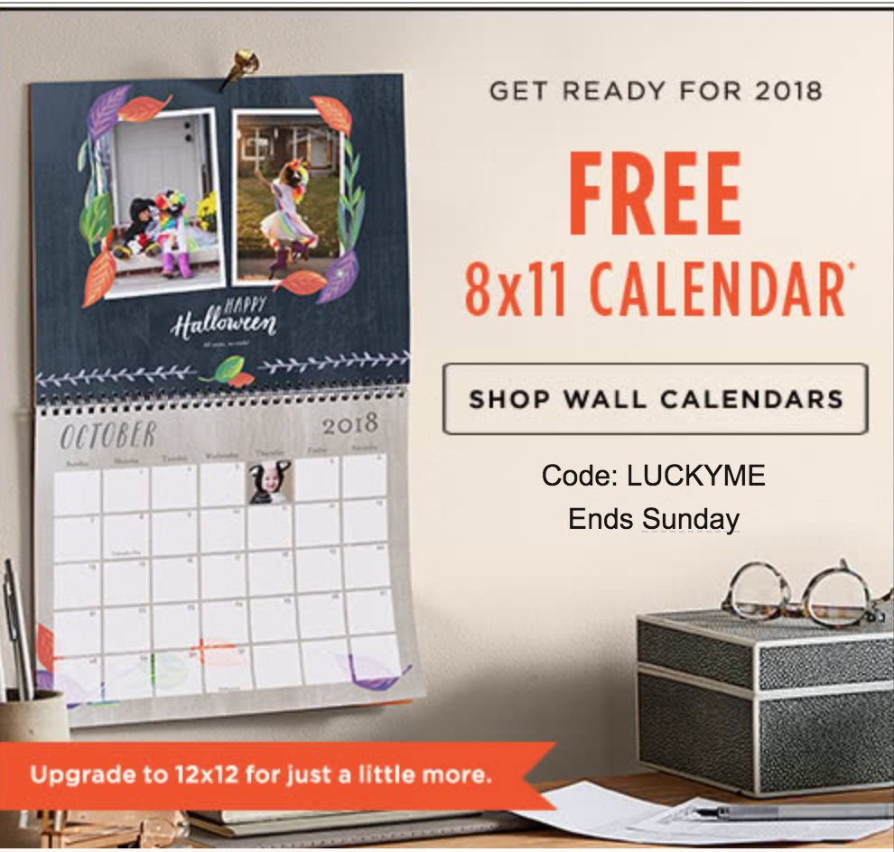 run free calendar offer from shutterfly just pay shipping perfect