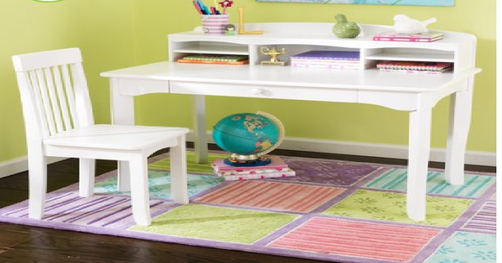 Kidkraft Avalon Desk Set With Hutch And Chair Only 89