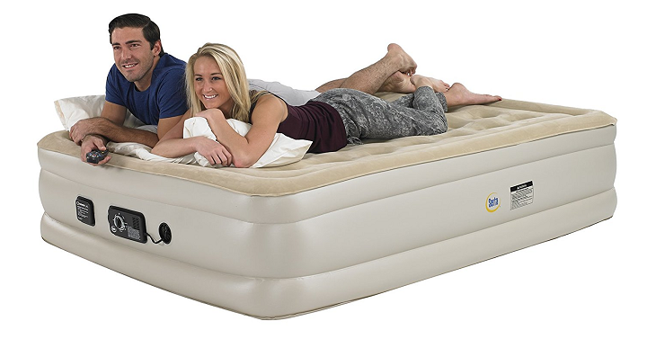 amazon has their serta raised queen pillow top air mattress with never flat pump for just primary pump inflates and deflates your