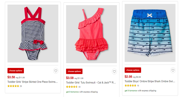 fc3d26ce50 Target has their swimsuits on clearance for awesome prices! They have  toddler girls starting at just $2.98 as well as boys!