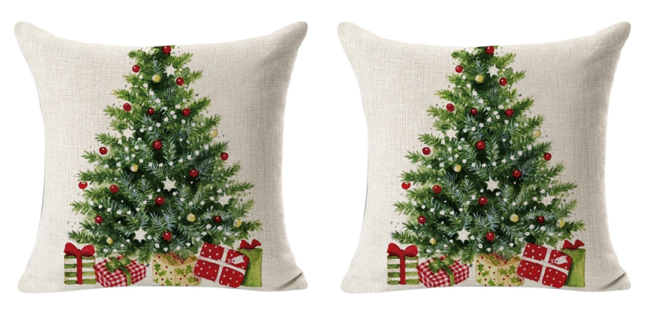 but its always nice to be prepared for the upcoming holidays early right grab some of these christmas tree throw pillow covers for only - Christmas Tree Cover