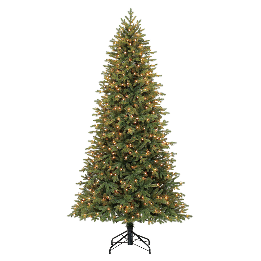 Holiday Living 7.5 ft Pre-Lit Norway Spruce Christmas Tree ...