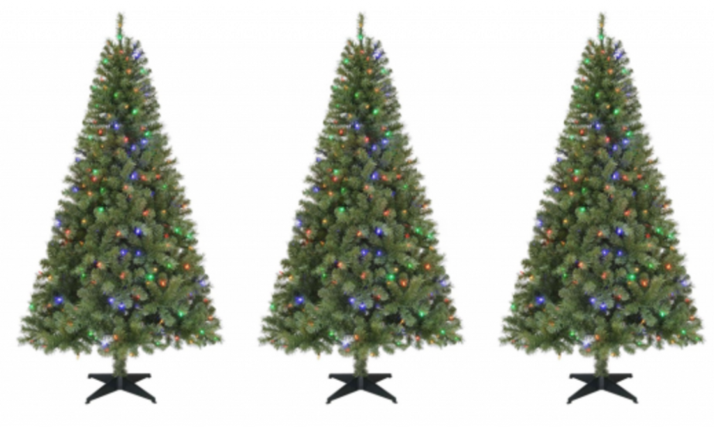 6.5 Ft. Pre-Lit LED Greenville Spruce Artificial Christmas Tree Just $49.98!