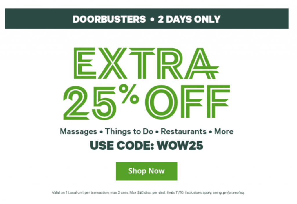 wow save 25 off local deals at groupon freebies2deals