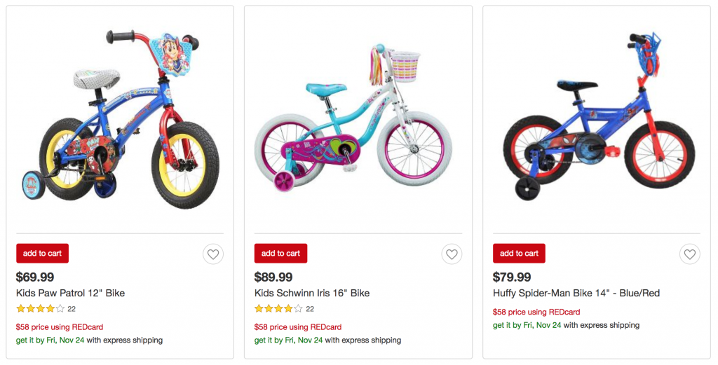 930d4f35619 If you need bikes for your kiddos check out the Target REDCard Holder Early  Access Sale! You can shop a variety of 12″, 14″ or 16″ bikes all on sale  for ...