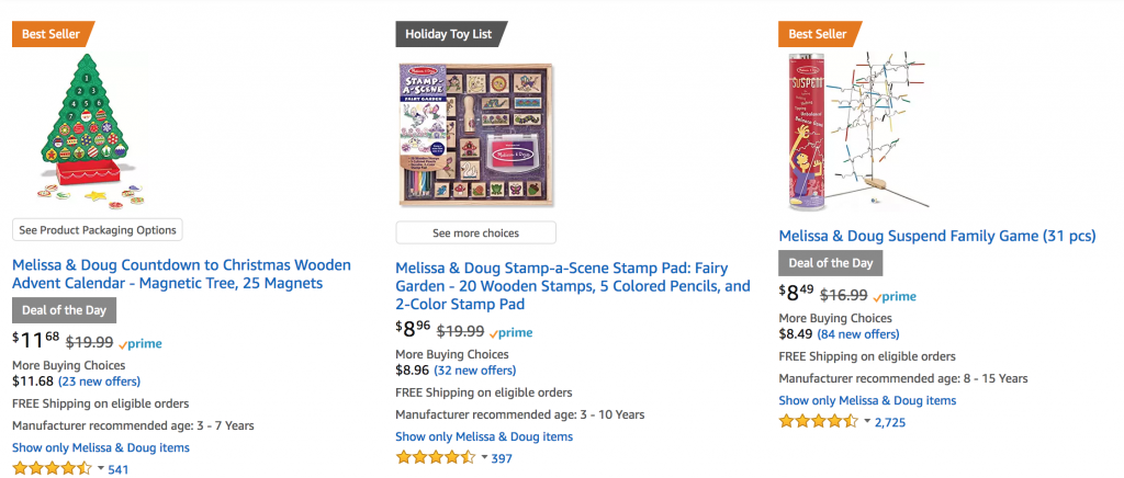 73efc0d8d4a8 Amazon is having some incredible daily deals today! I already posted about  a killer deal on the Melissa & Doug Train Table, but that is just one  awesome ...