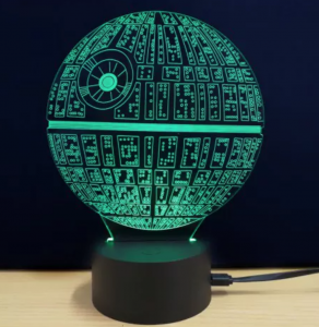 The Death Star Shape 3d Led Table Lamp 5 21 Shipped Freebies2deals